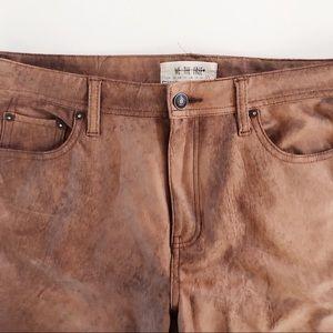 Free People Soft Vegan Leather Skinny Jean